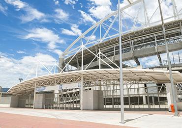 Обогрев зоны входа на стадион